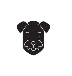 airedale black concept icon airedale fl vector image