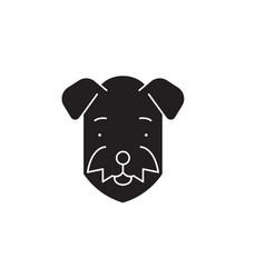 Airedale black concept icon fl vector