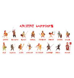 Ancient warriors set vector