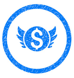 angel investment rounded grainy icon vector image