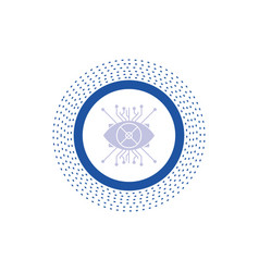 ar augmentation cyber eye lens glyph icon isolated vector image