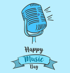 Art music day card style vector