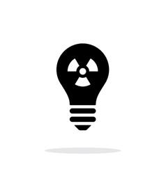 Atomic light icon on white background vector image