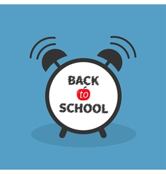 Back to school Alarm clock with chalk text Blue vector