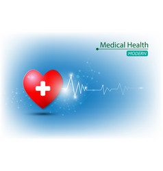 background health care and medical concept vector image