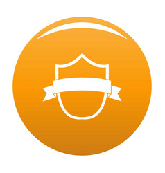 badge modern icon orange vector image