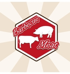 barbecue beef and pork vector image vector image