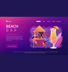 beach bar concept landing page vector image