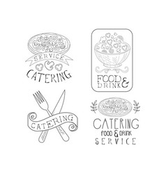 black and white emblems for professional vector image