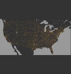 Blank dark grey similar usa america map vector