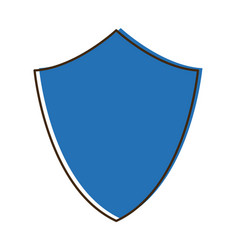 Blue shield protection healthcare safety symbol vector