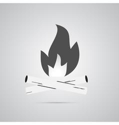 Bonfire logo labels and badges vector