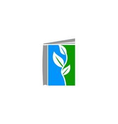 book leaf logo vector image