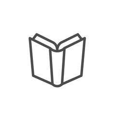 Book line icon vector