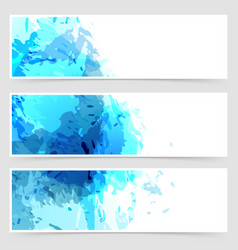 Bright blue paint abstract web header collection vector