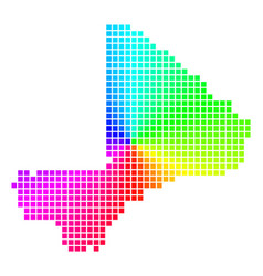 Bright dotted mali map vector