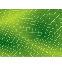 bright green background with distorted grid vector image