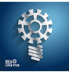 Business ideas concepts featuring light gear vector