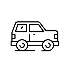 car line icon concept sign outline vector image