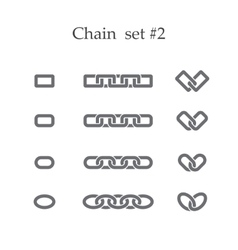 Chain set two vector