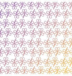 clover leaves seamless pattern st patricks day vector image