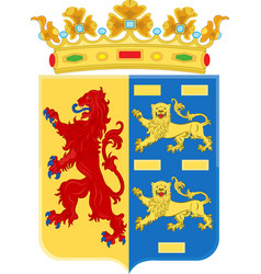 coat of arms of north holland netherlands vector image