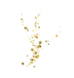 Confetti cover from gold stars wave path like vector
