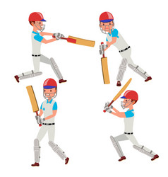 Cricket player wearing sport uniform vector