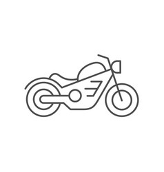 Cruiser motorcycle line outline icon vector