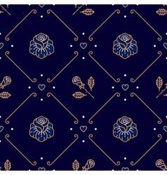 Diagonal seamless pattern Fashion floral ornament vector image