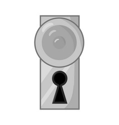 dooe knob handle symbol icon design vector image