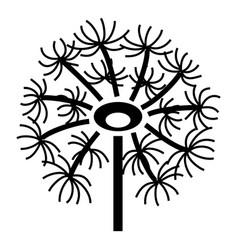 Dry dandelion icon simple style vector