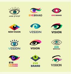 Eye blinker business vision daylight glimmer vector