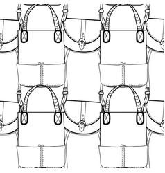 fashion women handbag for coloring book black and vector image