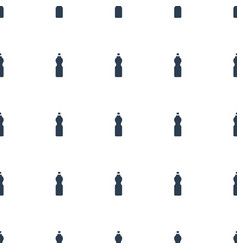 fitness bottle icon pattern seamless white vector image