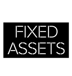 Fixed assets stamp on white vector