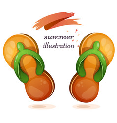 flip-flops cartoon om the white vector image