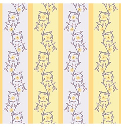 Floral yellow vector