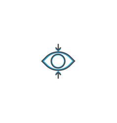 focus icon design essential icon vector image
