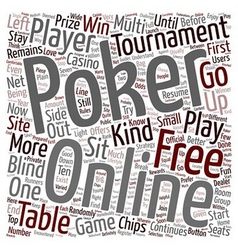 Free online poker 1 text background wordcloud vector