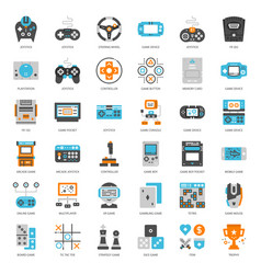 game technology flat icon vector image