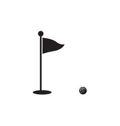 golf silhouette icon symbols golf vector image