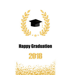 graduate card class of 2018 vector image