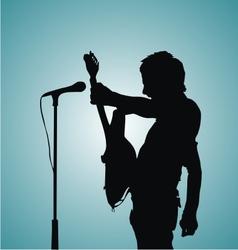 Guitarist Silhouette vector image