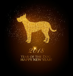 Happy new year 2018 background year of the dog vector