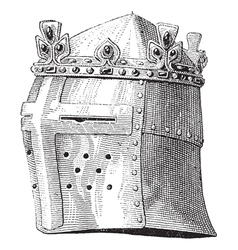 helmet vintage engraving vector image