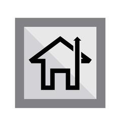 Home arrow icon vector