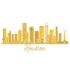 Houston usa city skyline golden silhouette vector