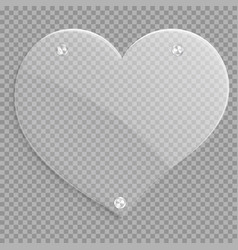 icon glossy heart vector image vector image