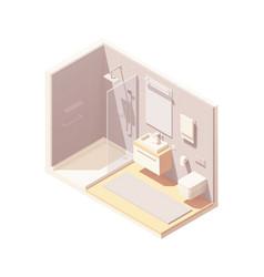isometric small bathroom interior vector image